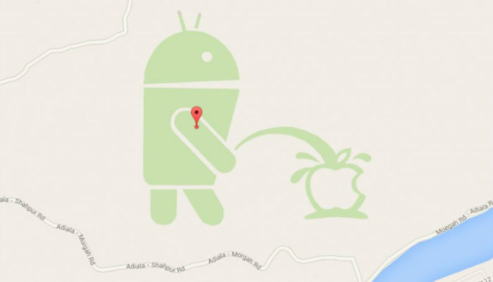 Whoever did this is surely an Android fanboy!