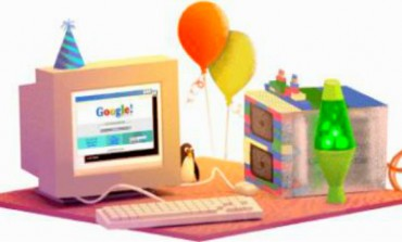 Google celebrates its 17th birthday, shows 1990s web doodle