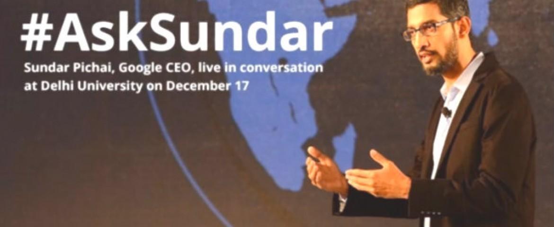 LIVE BLOG: Google CEO Sundar Pichai at SRCC (Delhi University)