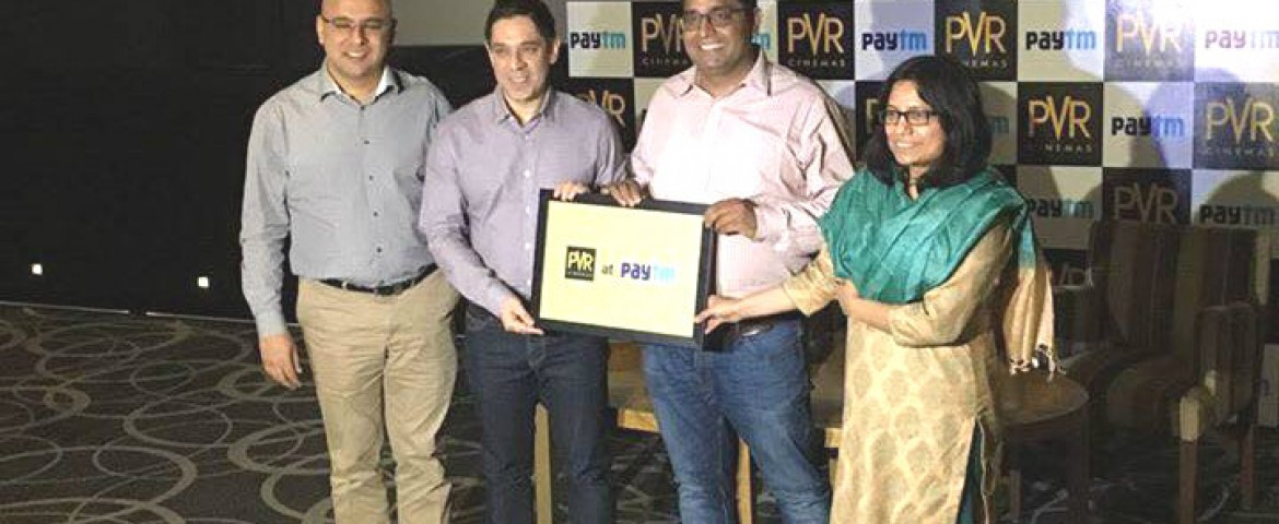 Paytm Ties up with PVR To Sell Movie Tickets