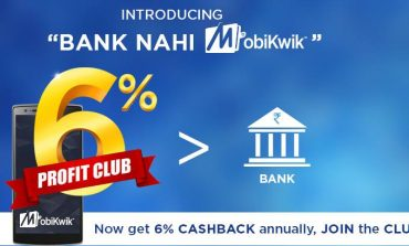 Mobikwik Offers 6% Annual Interest Rate on 5000/month Balance in Wallet