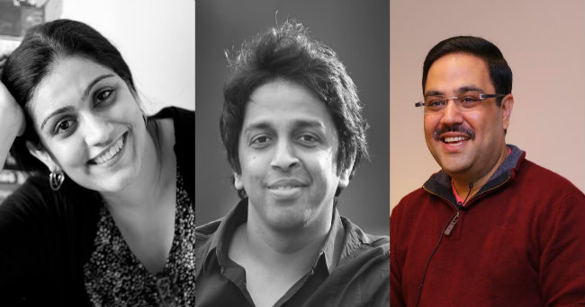 Ravi Subramanian, Enchantico's Co- Founder and Chief Advisor, Sangram Surve, the Co-Founder and Chief Contagion Agent and Shalini Bajaj, the Co - Founder and Chief Delight Officer