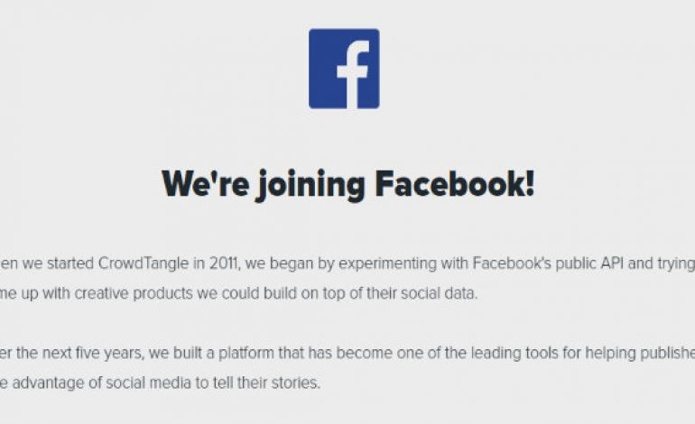 Facebook Acquired Social Media Content Tracker CrowdTangle