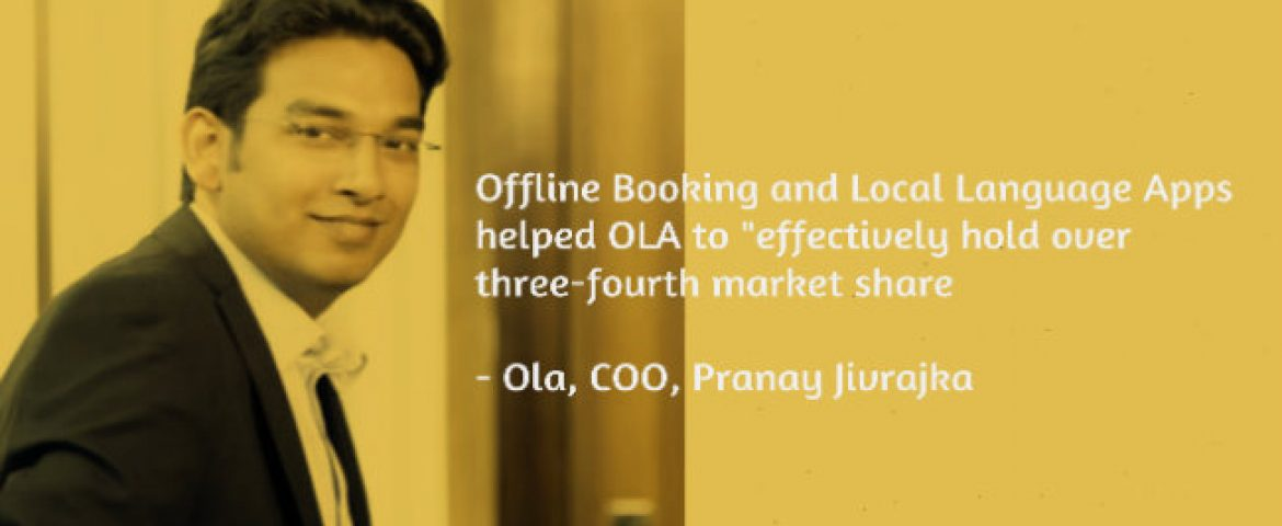 Innovation Helped us Hold Over 3/4th Market Share: Ola COO Pranay Jivrajka