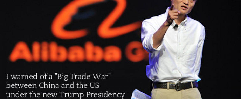 Alibaba's Jack Ma Warns of 'Big Trade War' Between China, US