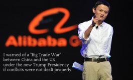 Alibaba's Jack Ma Warns of 'Big Trade War' Between China, US