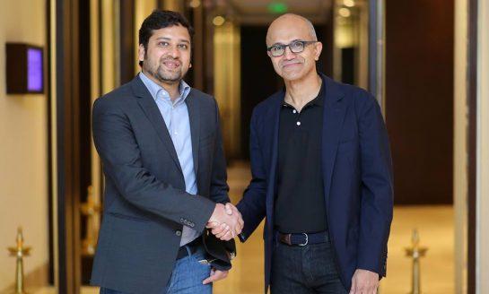 Flipkart CEO Binny Bansal and Microsoft CEO Satya Nadella Announce Key Partnership to Expand E-commerce in India