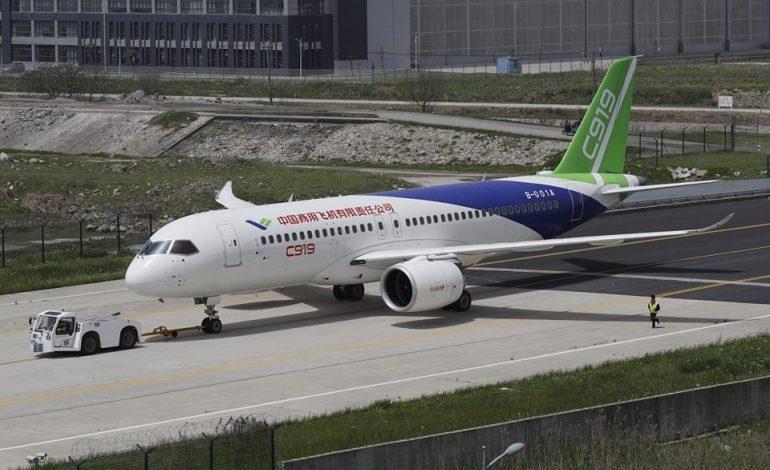Chinas First Passenger Plane Makes Maiden Flight