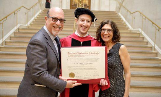 Mark Zuckerberg Gets Harvard Degree, Urges Harvard Grads to Take Risk