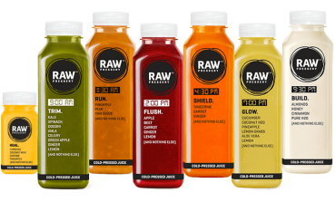 Cold Pressed Juice Startup RAW Pressery Bags $6 Mn