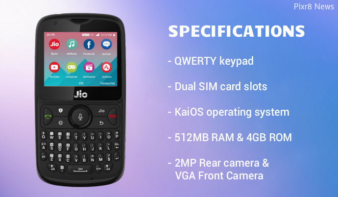 Reliance Jio Phone 2 Launches At Rs 2 999 Specifications