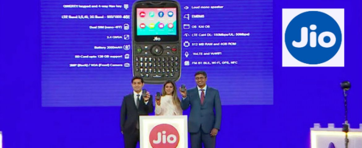 Reliance Jio Phone 2 Launches at Rs 2,999: Specifications and Plans